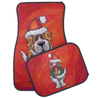 Noël de St Bernard sur le rouge Tapis De Sol