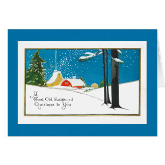 Noël démodé à la ferme carte de vœux