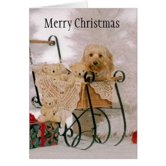 Noël démodé carte