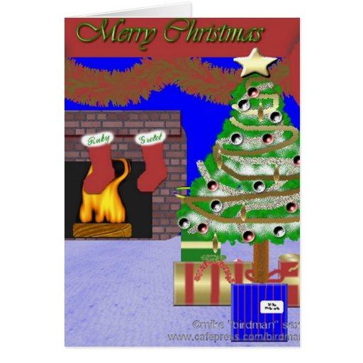 Noël démodé carte de vœux