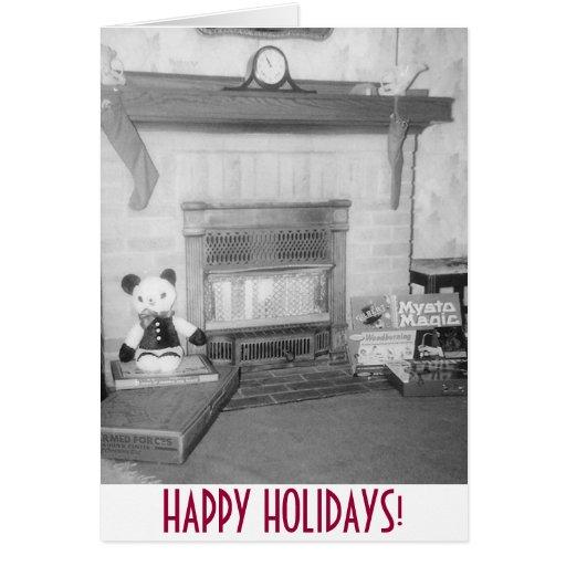 Noël démodé cartes de vœux