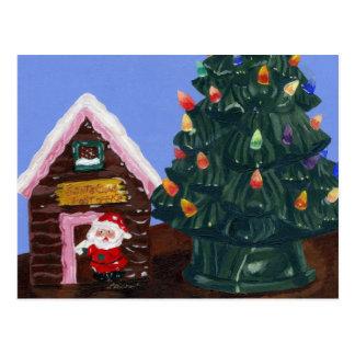 Noël démodé carte postale