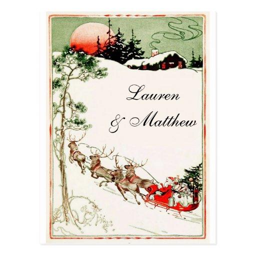 Noël démodé cartes postales