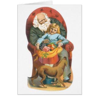 Noël démodé de famille carte de vœux