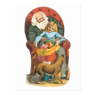 Noël démodé de famille carte postale