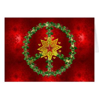 Noël d'étoile de paix carte de vœux