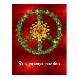 Noël d'étoile de paix carte postale