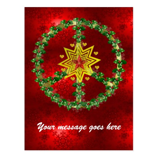 Noël d'étoile de paix cartes postales