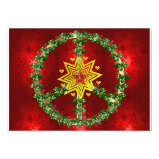 Noël d'étoile de paix faire-part personnalisé