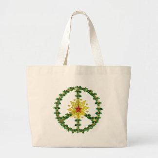 Noël d'étoile de paix sacs