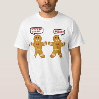 Noël drôle de bonhomme en pain d'épice tee shirts