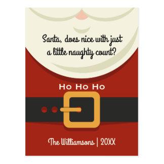 Noël drôle vacances vilaines et agréables du père cartes postales