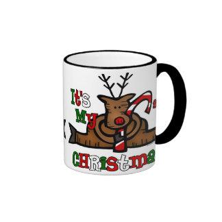 Noël du bébé de renne ęr tasse