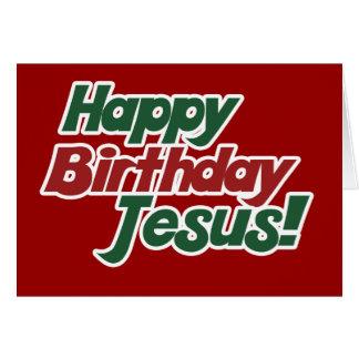 Noël est anniversaire de Jésus Carte De Correspondance