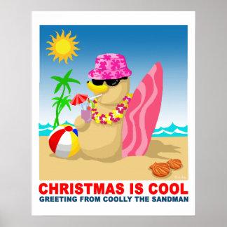 Noël est frais saluant fraîchement du sandma poster