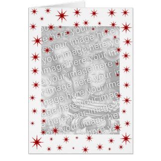 Noël étoilé rouge carte de vœux