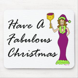 Noël fabuleux de diva de vin tapis de souris