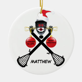 Noël fait sur commande de lacrosse décorations de noël