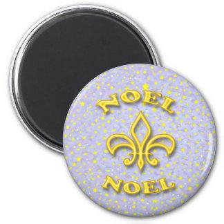 Noel Fleur de Lis Christmas Magnet