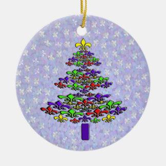 Noel Fleur de Lis Christmas Tree Ornament