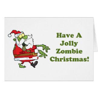 Noël gai de zombi cartes