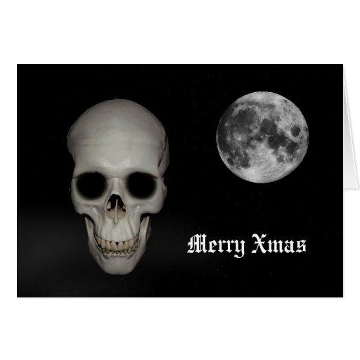 Noël gothique de crâne d'amusement cartes de vœux