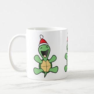 Noël heureux de tortue mug blanc