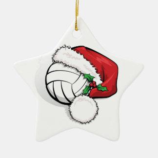 Noël heureux de volleyball de vacances ornement étoile en céramique