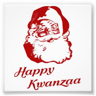 Noël heureux le père noël de Kwanzaa Photos D'art