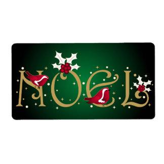 Noel - Label Shipping Label