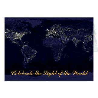 Noël (lumière du monde) carte