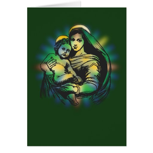 Noël Mary et Jésus Carte De Vœux