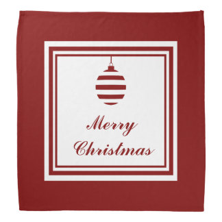 NOEL Merry Christmas Holiday Red And White Bandana