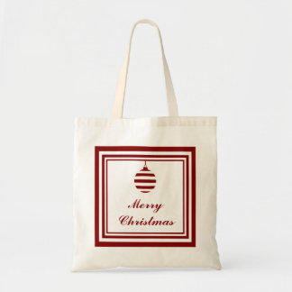 NOEL Merry Christmas Holiday Red And White Tote Bag
