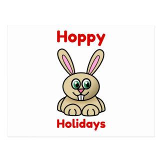 Noël mignon de lapin de bande dessinée de vacances cartes postales
