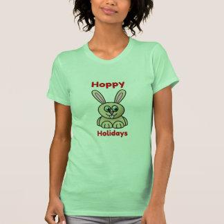 Noël mignon de lapin de bande dessinée de vacances t-shirts