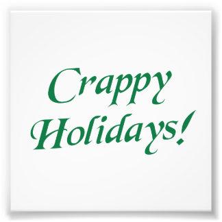 Noël misérable bonnes fêtes tirage photo