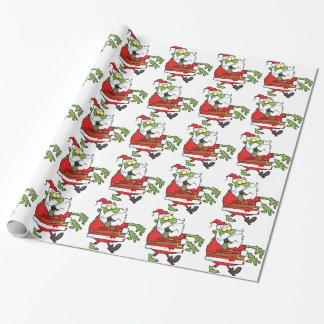 Noël Père Noël de zombi drôle Papier Cadeau Noël