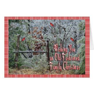 Noël-personnaliser démodée carte de vœux