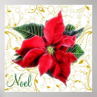 Noel Poinsettia Poster