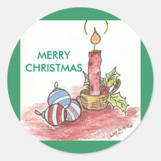 Noël - produits multiples sticker rond