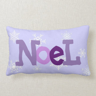 NOEL Purple Christmas Festive Pillow