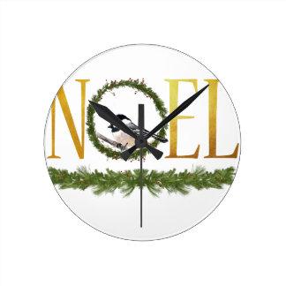 Noel Round Clock