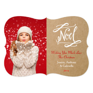 Noel Rustic Vintage Holiday Photo Card