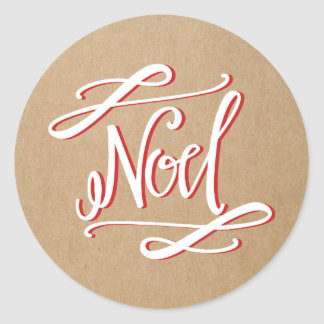 Noel Rustic Vintage Holiday Sticker