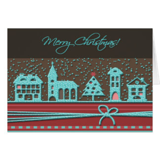 Noël scintillant démodé carte de vœux