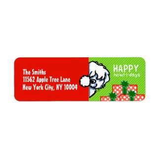 Noël semi-transparent de Tulear de coton Étiquette D'adresse Retour