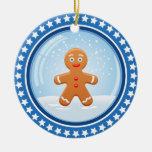 Noël Snowball avec le bonhomme en pain d'épice mig Décoration De Noël