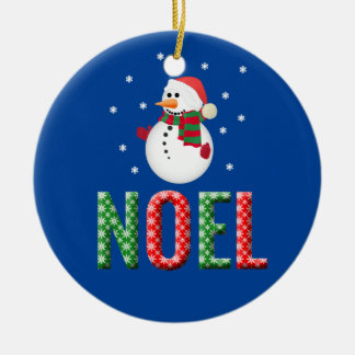 Noel Snowman Christmas Ornament