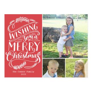 Noël souhaite la collection carte postale